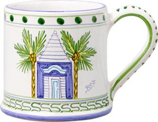 Blue Buttery Large Mug