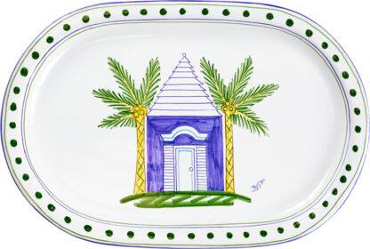 Blue Buttery Oval Platter