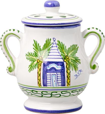 Blue Buttery Sugar Pot