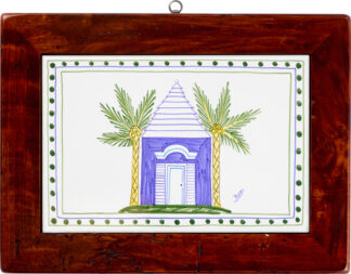 Blue Buttery Wood Framed Tile