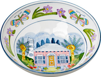 Butterfly Cottage Large Bowl