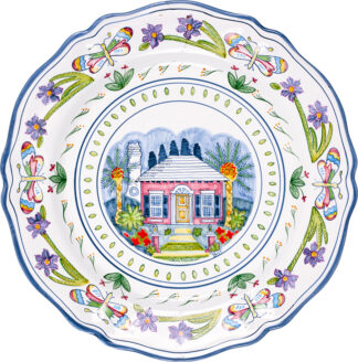 Butterfly Cottage Scalloped Plate