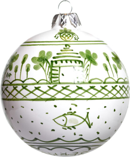 Green Buttery Small Christmas Ball Ornament
