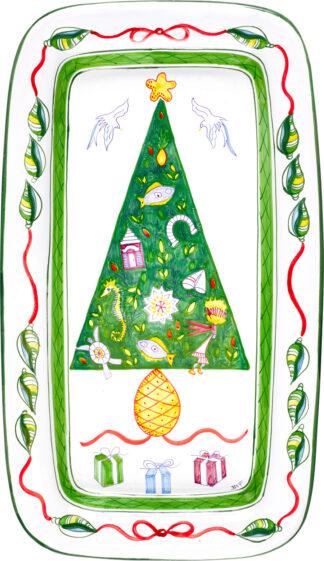 Christmas Tree Rectangular Platter