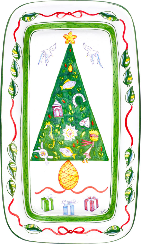 Christmas Tree Rectangular Platter