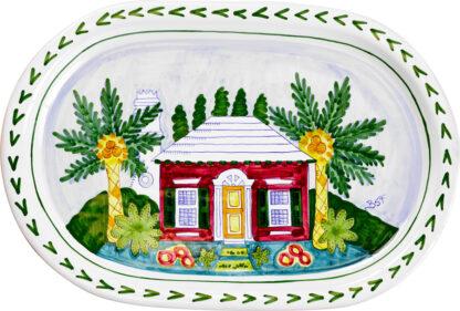 Bermuda Cottage Oval Platter