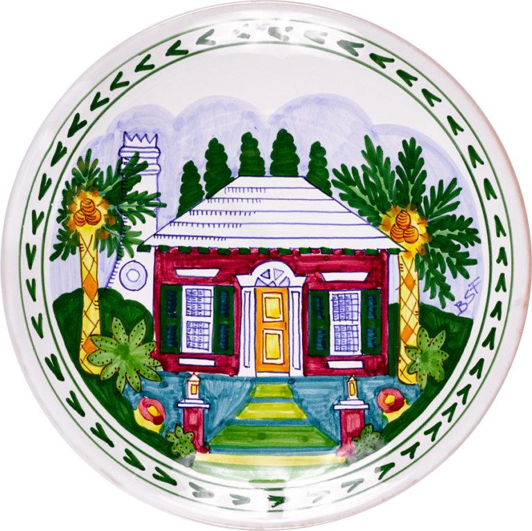 Bermuda Cottage Round Platter