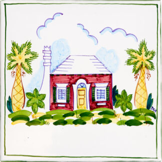 Bermuda Cottage Large Tile