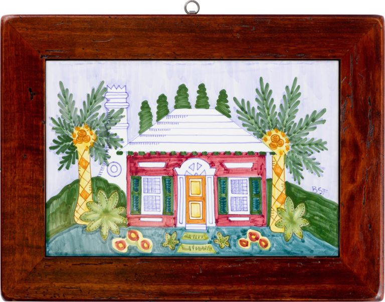 Bermuda Cottage Wood Framed Tile