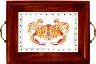 Crab Brass Handle Tray