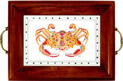 Crab Brass Handle Tray
