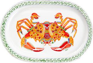 Crab Oval Platter