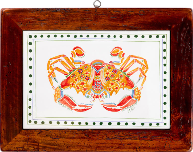 Crab Wood Framed Tile