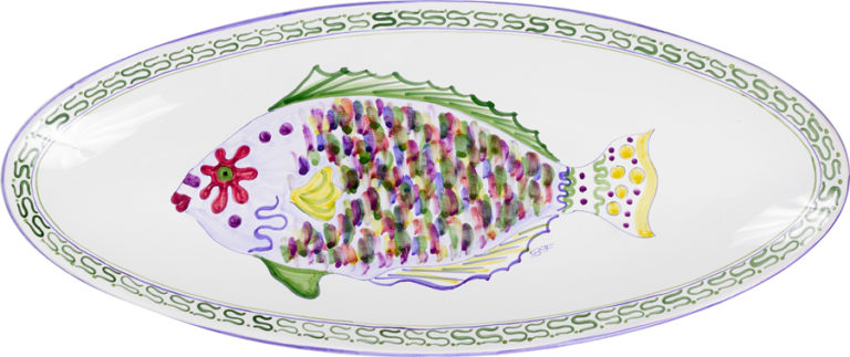 Parrot Fish Oblong Platter
