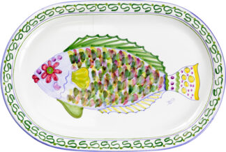Parrot Fish Oval Platter