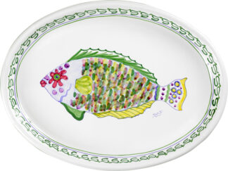 Parrot Fish Large Oval Platter
