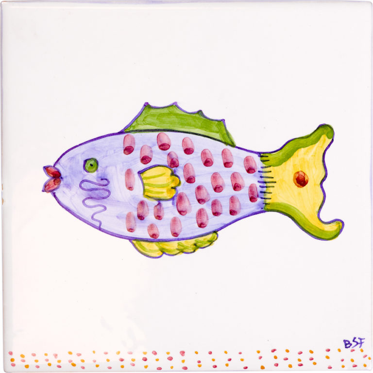 Parrot Fish Medium Tile