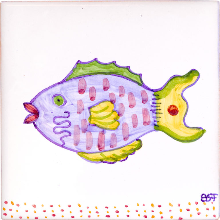 Parrot Fish Small Tile