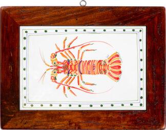 Lobster Wood Framed Tile