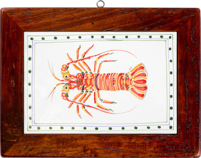Lobster Wood Framed Tile