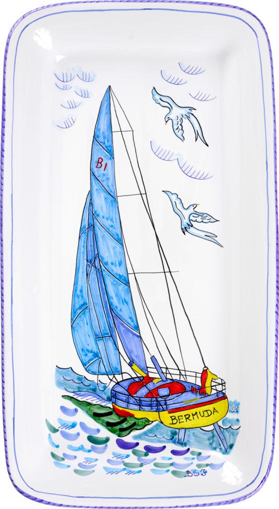 Bermuda Sailing Rectangular Platter