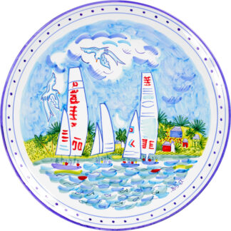 Bermuda Sailing Round Platter