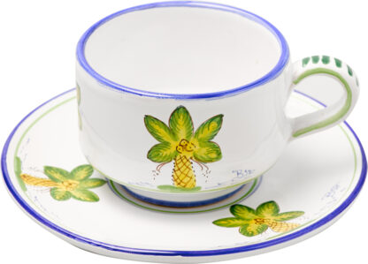 Palm Tree Cup and Saucer