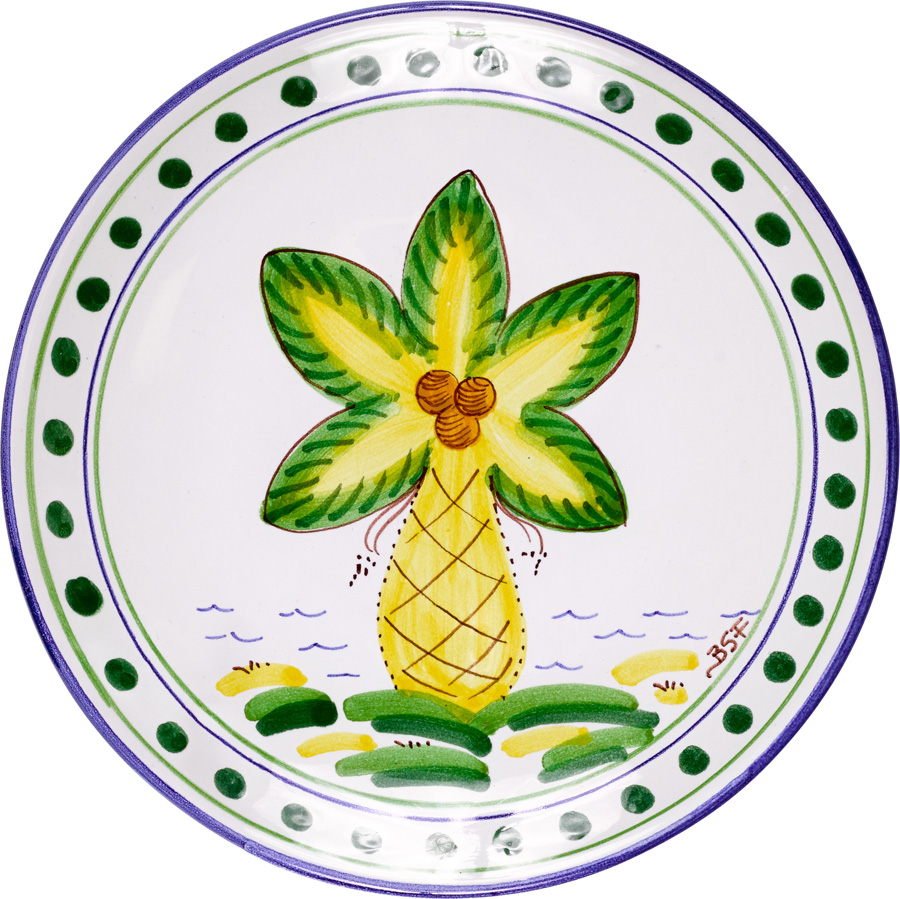 Palm Tree Dinner Plate  sc 1 st  The Island Shop & Palm Tree Dinner Plate - Island Exports