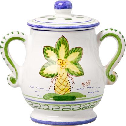 Palm Tree Sugar Pot
