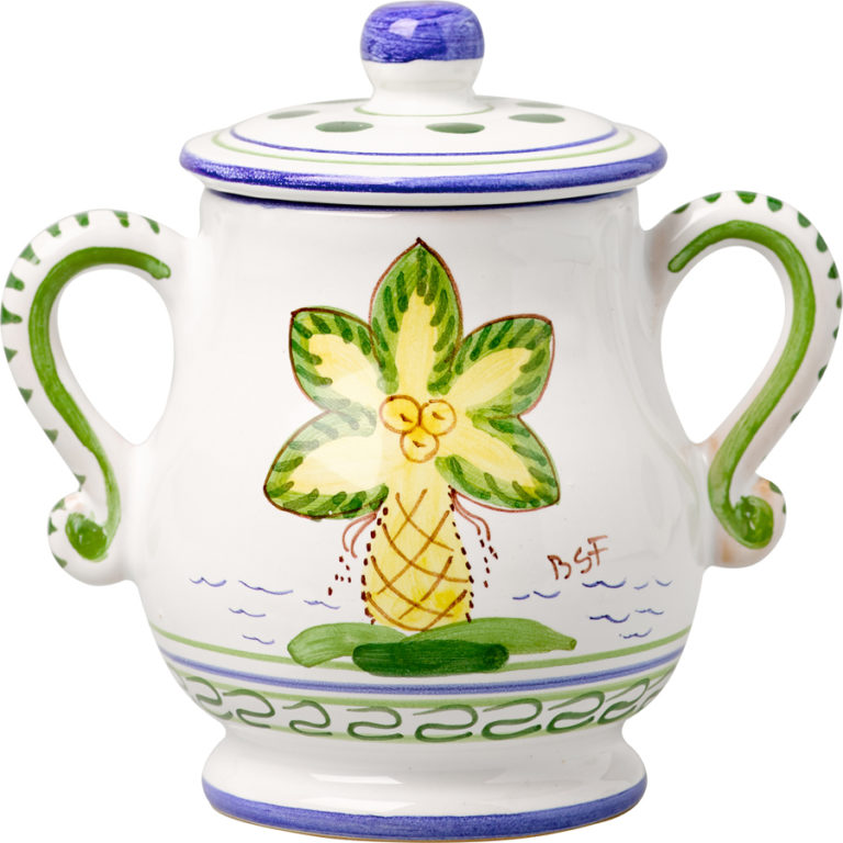 Palm Tree Sugar Pot