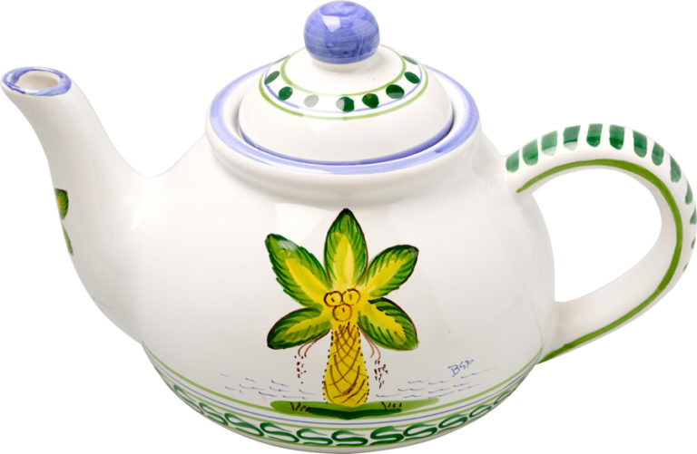 Palm Tree Teapot