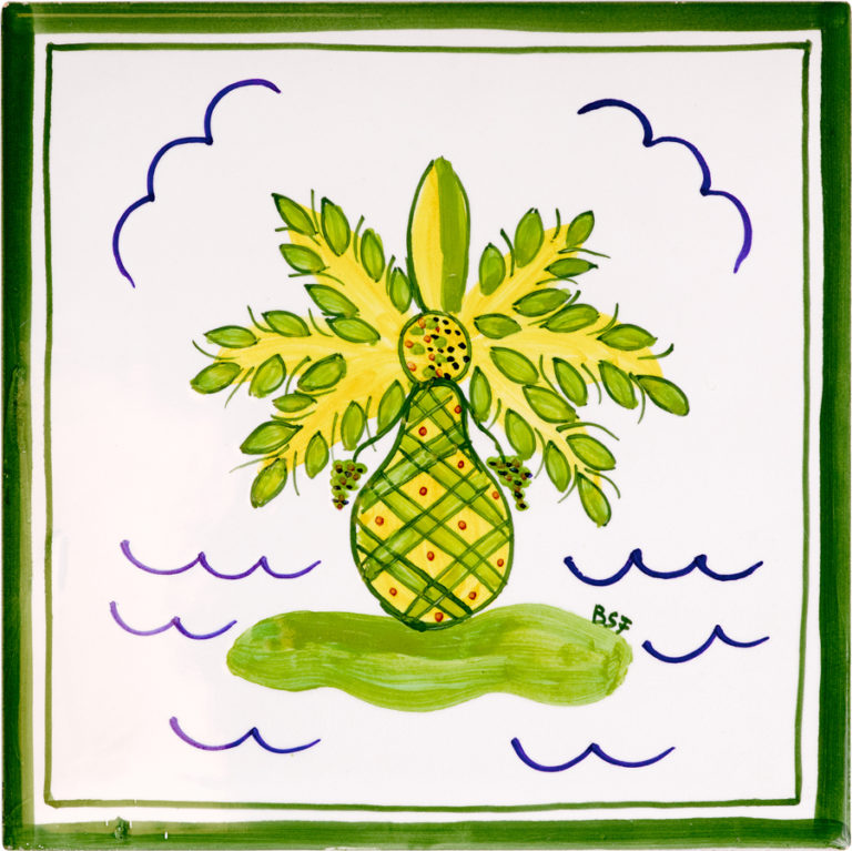 Palm Tree Large Tile