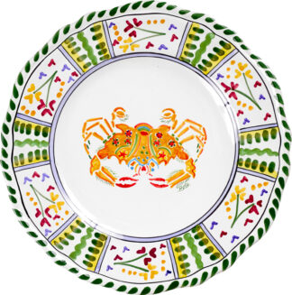 Crab Scalloped Plate
