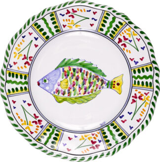Parrot Fish Scalloped Plate