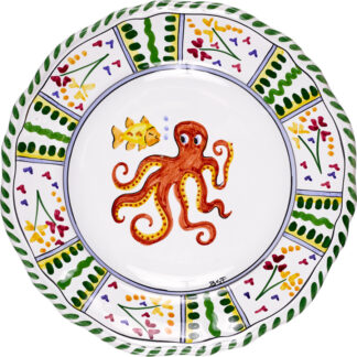 Octopus Scalloped Plate