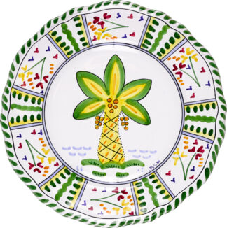 Palm Tree Scalloped Plate