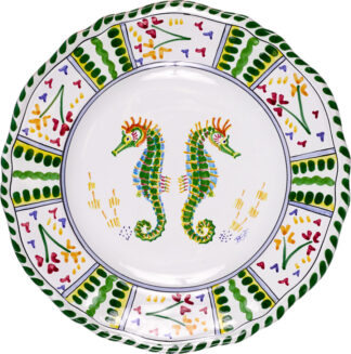 Seahorse Scalloped Plate