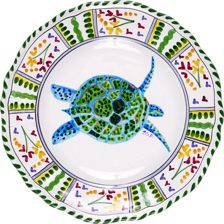 Turtle Scalloped Plate