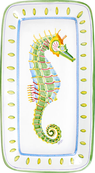 Seahorse Rectangular Platter (Right)