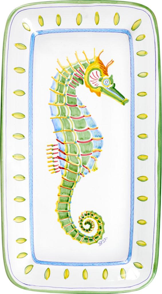 Seahorse Rectangular Platter (Right)
