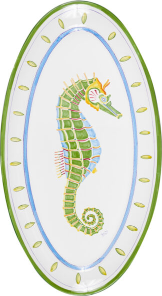 Seahorse Extra Large Oval Platter