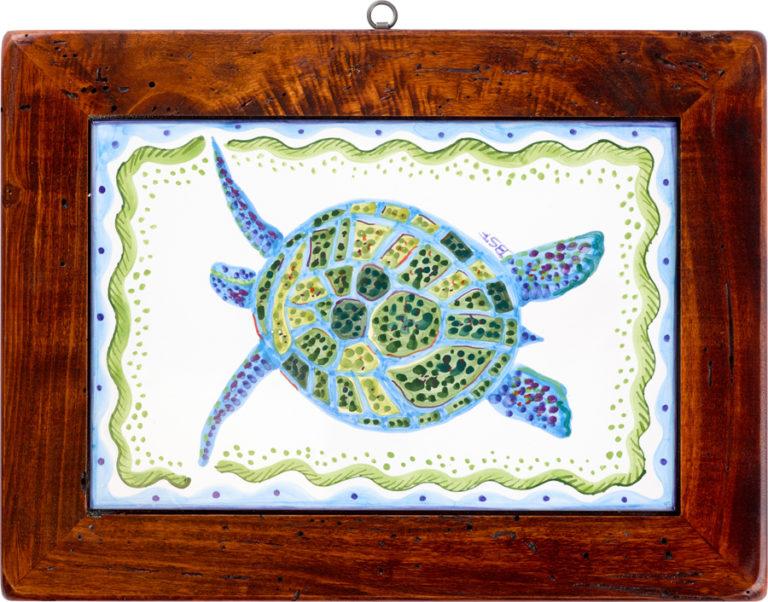 Turtle Wood Framed Tile