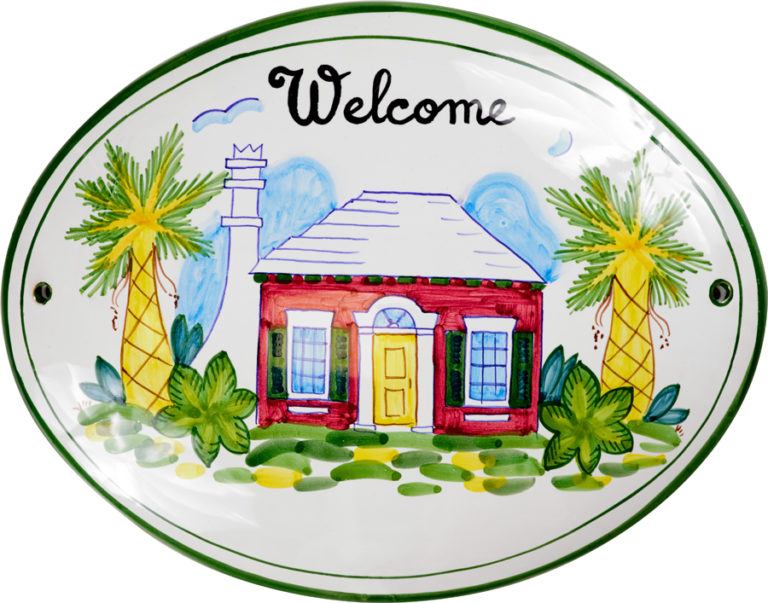 Red Cottage Welcome Sign