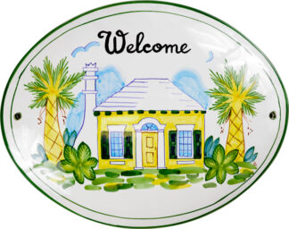 Yellow Cottage Welcome Sign