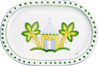 Yellow Buttery Oval Platter