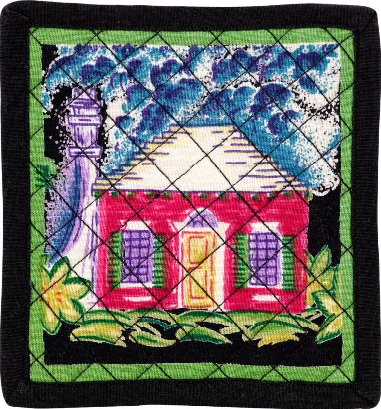 Black Cottage Set of 4 Coasters