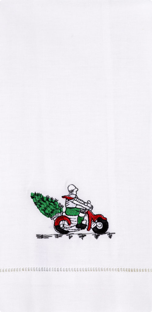 Christmas Scooter Guest Towel