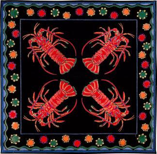 Black Lobster Napkin