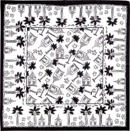 Black and White Buttery Napkin