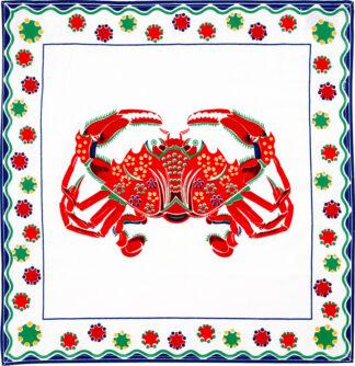 White Crab Napkin